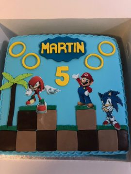 Sonic Childrens Birthday Cake