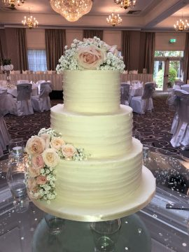 3 Tier Modern Wedding Cake