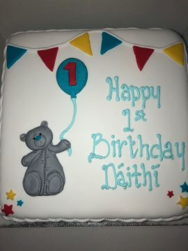 Baby Bear Birthday Cake