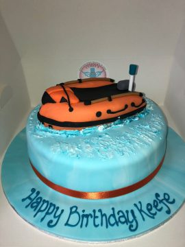 Lifeboat Birthday Cake