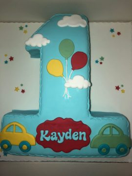 Baby Boy Birthday Cake