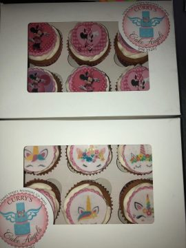 Mini Mouse Birthday Cup cakes