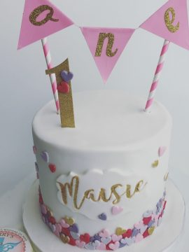 Fabulous baby Girl Birthday Cake