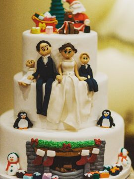 X,mas Wedding Cake