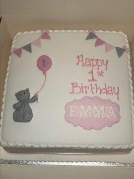 Baby Bear Birthday Cake