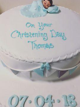 Beautifully baked christening cakes