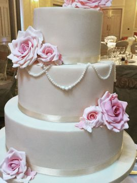 Pretty modern wedding cake